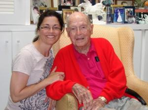 Marybeth & Granddad @ age 101