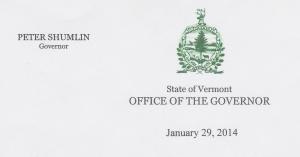 Gov Shumlin 1-14 letterhead