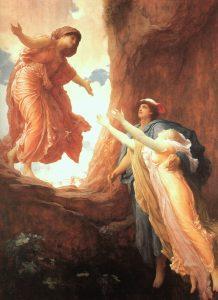 Demeter embraces Persephone